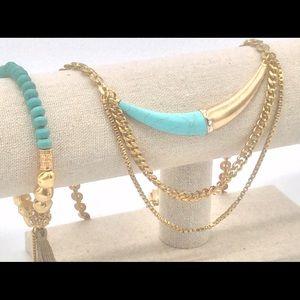 """SILPADA Turquoise  """"Coastal Color"""" Necklace Lot"""